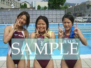 S58 生写真 水泳 水着 スク水 競泳水着 女子 L判 L版 女子アスリート 高画質 グラビア スポーツ