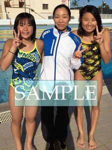 S48 生写真 水泳 水着 スク水 競泳水着 女子 L判 L版 女子アスリート 高画質 グラビア スポーツ
