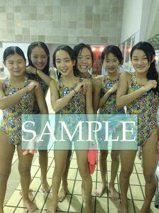 S73 生写真 水泳 水着 スク水 競泳水着 女子 L判 L版 女子アスリート 高画質 グラビア スポーツ