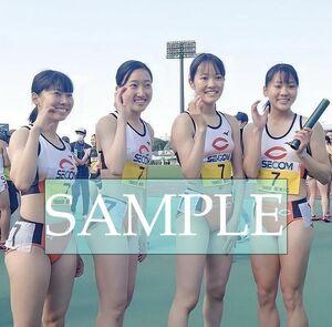 R24 生写真 レーシングブルマ 女子 陸上 L判 L版 女子アスリート 高画質 グラビア スポーツ