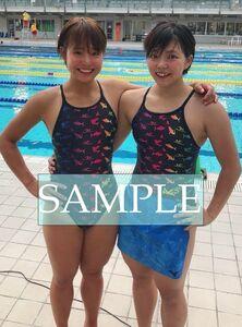 S59 生写真 水泳 水着 スク水 競泳水着 女子 L判 L版 女子アスリート 高画質 グラビア スポーツ