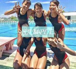 S8 生写真 水泳 水着 スク水 競泳水着 女子 L判 L版 女子アスリート 高画質 グラビア スポーツ