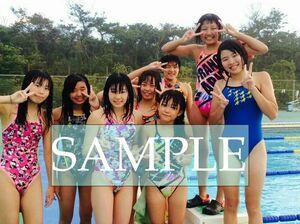 S49 生写真 水泳 水着 スク水 競泳水着 女子 L判 L版 女子アスリート 高画質 グラビア スポーツ
