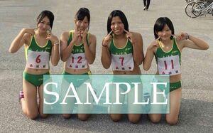 R169 生写真 レーシングブルマ 女子 陸上 L判 L版 女子アスリート 高画質 グラビア スポーツ