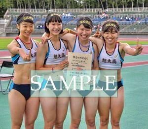 R202 生写真 レーシングブルマ 女子 陸上 L判 L版 女子アスリート 高画質 グラビア スポーツ