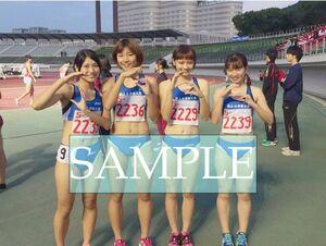 R206 生写真 レーシングブルマ 女子 陸上 L判 L版 女子アスリート 高画質 グラビア スポーツ