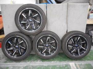 215/50R17 スバル純正アルミ付きスタッドレスタイヤ ほぼ未使用品 レヴォーグ プリウスα インサイト ジェイド リーフ アテンザスポーツ