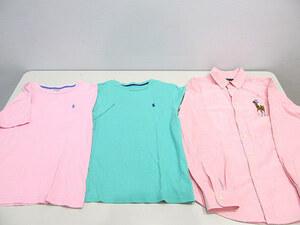1円 POLO RALPH LAUREN ポロラルフローレン Tシャツ 長袖シャツ 3点セット