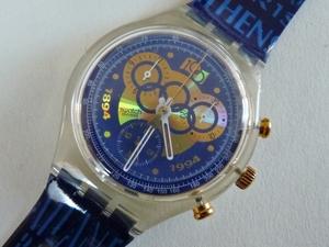 未使用 スウォッチ Swatch 94年クロノ オリンピック 電池交換済
