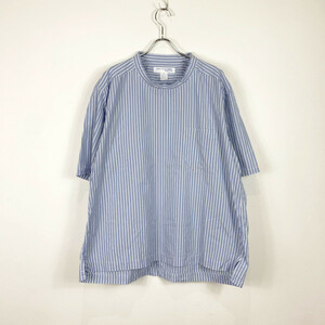 COMME des GARCON SHIRT boys / コム デ ギャルソンシャツボーイズ | 半袖ストライプポケットTシャツ | S | ブルー