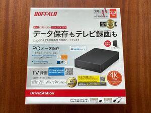 バッファロー 2TB HDD 外付け ハードディスク HD-EDS2U3-BC BUFFALO