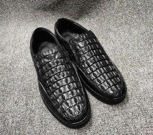 ワニ革 クロコダイル ローファー 紳士ビジネスシューズ 金運上昇 メンズ 革靴 モカシン ドライビングシューズ 本物保証 黒