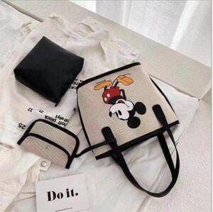 大人気 可愛い ディズニー ミッキーのミニトートバッグ ポーチ付き 新品未使用