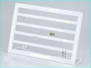 新品◆ジュエリースタンド(ピアス・イヤリング/60個用)白◆イヤリングコレクションたくさん収納■おひさま堂-ヤフオクストア
