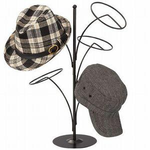 即決◆ブラック帽子ディスプレースタンド5個用◆カツラ-被り物の型崩れ防止に■特別ミニ送料-代引可■おひさま堂-ヤフオクストア