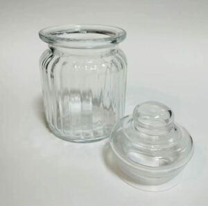ガラスキャニスター ガラス瓶 蓋付き レトロ アンティーク ガラスキャニスター ガラス瓶 ガラス容器 昭和レトロ 瓶