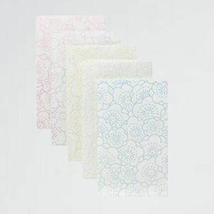 新品 未使用 限定】和紙かわ澄 【 N-4K 5色各3枚合計15枚入 梅 きら染め和紙ぽち袋 梅