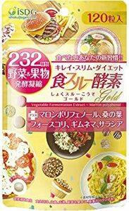 ISDG 食スルー酵素 Gold、232種類野菜&果物発酵凝縮。120粒/袋