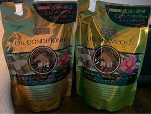 熊野油脂 ディブ 3種(馬油・椿油・ココナッツオイル)のノンシリコンシャンプー &ノンシリコンコンディショナー 400ml 各1個