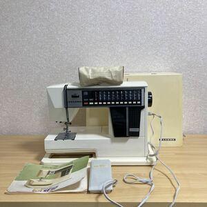 1円スタート JANOME ジャノメ コンピューターミシン MEMORIA メモリア MODEL5002 取説 フットペダル ハンドクラフト 編機 手工芸 10 ス 374