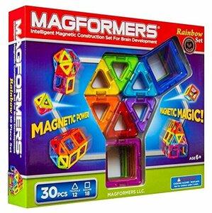 マグフォーマー 30ピース レインボーセット MAGFORMERS マグネットブロック 創造力を育てる知育玩具 【30ピース】