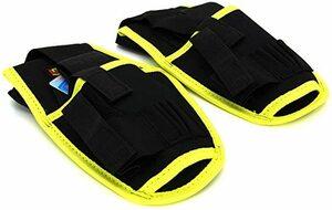 黄-1 2個-1セット Utoolmart 作業用工具腰袋 電気ツールパック ウエストバッグ 釘袋+サポーター+ベルト ベル