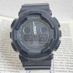 ★CASIO G-SHOCK デジアナ 多機能 腕時計 ★ カシオ G-ショック GA-100 2針 アラーム クロノ タイマー ブラック 稼動品 F5868
