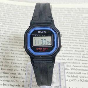 ★ CASIO デジタル 多機能 腕時計 ★ カシオ LA-11W アラーム クロノ ブラック 稼動品 F5886