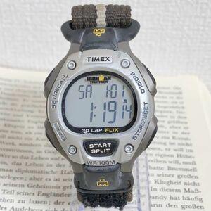 ★TIMEX IRONMAN TRIATHLON 多機能 腕時計★ タイメックス アイアンマン トライアスロン 30LAP アラーム クロノ タイマー 稼動品 F5971