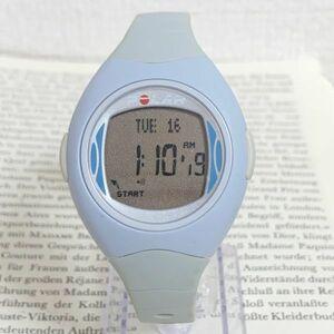 ★POLAR デジタル 腕時計★ ポラール ブルー 稼動品 F6026