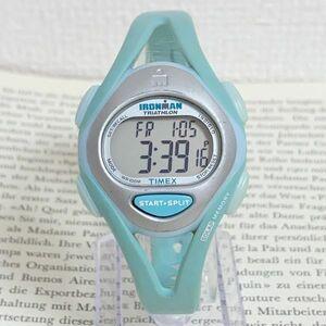 ★TIMEX IRONMAN TRIATHLON 多機能 腕時計★ タイメックス アイアンマン トライアスロン 50LAP アラーム クロノ タイマー 稼動品 F6027