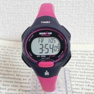 ★TIMEX IRONMAN TRIATHLON 多機能 腕時計★ タイメックス アイアンマン トライアスロン 10LAP アラーム クロノ タイマー 稼動品 F6028