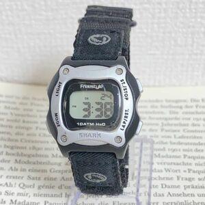 美品 ★Freestyle デジタル 多機能 腕時計 ★フリースタイル アラーム クロノ ブラック 稼動品 F6031