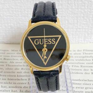 ★ GUESS 腕時計 ★ ゲス 3針 ゴールド レザーバンド 稼動品 F6040