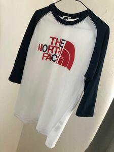 THE NORTH FACE ロゴプリント 七分袖 Tシャツ