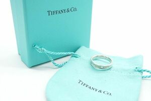 ティファニー 15号 1837 ナロー リング 指輪 SV925 ロゴ アクセサリー ジュエリー 銀 シルバー 良品 TIFFANY&Co. 6213j