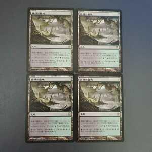 MTG 森林の墓地 日本語 4枚セット