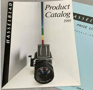 [ camera ]HASSELBLAD Product Catalog 1989 Hasselblad general catalogue [ rare ][ hard-to-find ][ super-beauty goods = new goods and more? ]! with price list