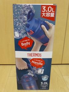 〇送料無料 新品未使用 サーモス 水筒 真空断熱スポーツジャグ 3.0L ネイビーレッド FFV-3001 NV-R