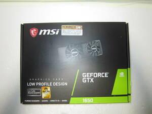MSI GeForce GTX 1650 4GT LP  ロープロ対応グラボ 動作確認済み・現状渡し