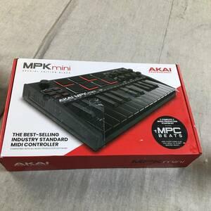 現状品 Akai Pro MIDIキーボード 25鍵USB ベロシティ対応8パッド音楽制作ソフト MPK mini mk3 黒