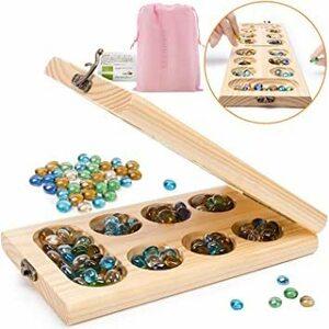 新品 Jiudam ボードゲーム Mancala 木製 知育玩具 子供 おもちゃ 男の子 女の子 誕生日のプレゼント8PQE