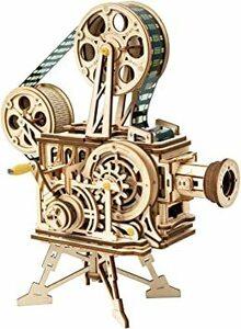 ROBOTIME 3Dパズル プロジェクター 映写機 映画放映 フィルム付き ギア おもちゃ オモチャ 知育玩具 男の子 女の子