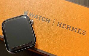 1 иен ~ S прекрасный товар HERMES Hermes Apple Watch Series6 40MM принадлежности коробка брошюра оригинальный кожа breath мужской женский смарт-часы 2676980