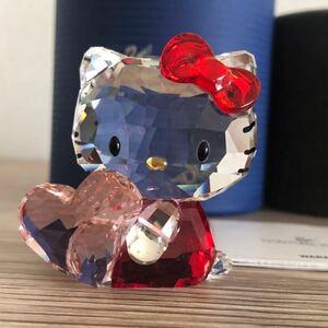 ☆ハローキティ×SWAROVSKI社☆スワロフスキー 5135886 ピンクハート Pink Heart クリスタル フィギュア 置物 正規品 サンリオ