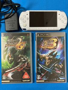 PSP-3000本体 PSPソフト モンハンPT 2G 3rd 2本