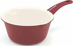 バーガンディレッド 15cm VitaVerde ビタベルデ 「 ソフトグリップ バーガンディ レッド 」 ミルクパン15cm