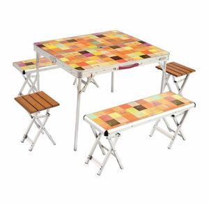 コールマン ナチュラルモザイクファミリーリビングセットプラス (2000026757) キャンプ テーブル Coleman