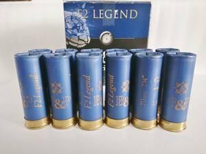 B&P F2 Legend ショットガン ダミーカート ショットシェル 12番 空薬莢 12本組 箱付き / M870 M3 M1100 KSG SGR AA12 12ゲージ 散弾