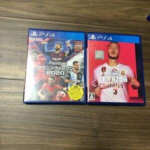 【PS4】 eFootball ウイニングイレブン 2020 FIFA20 プロダクトコード未使用 2本セット